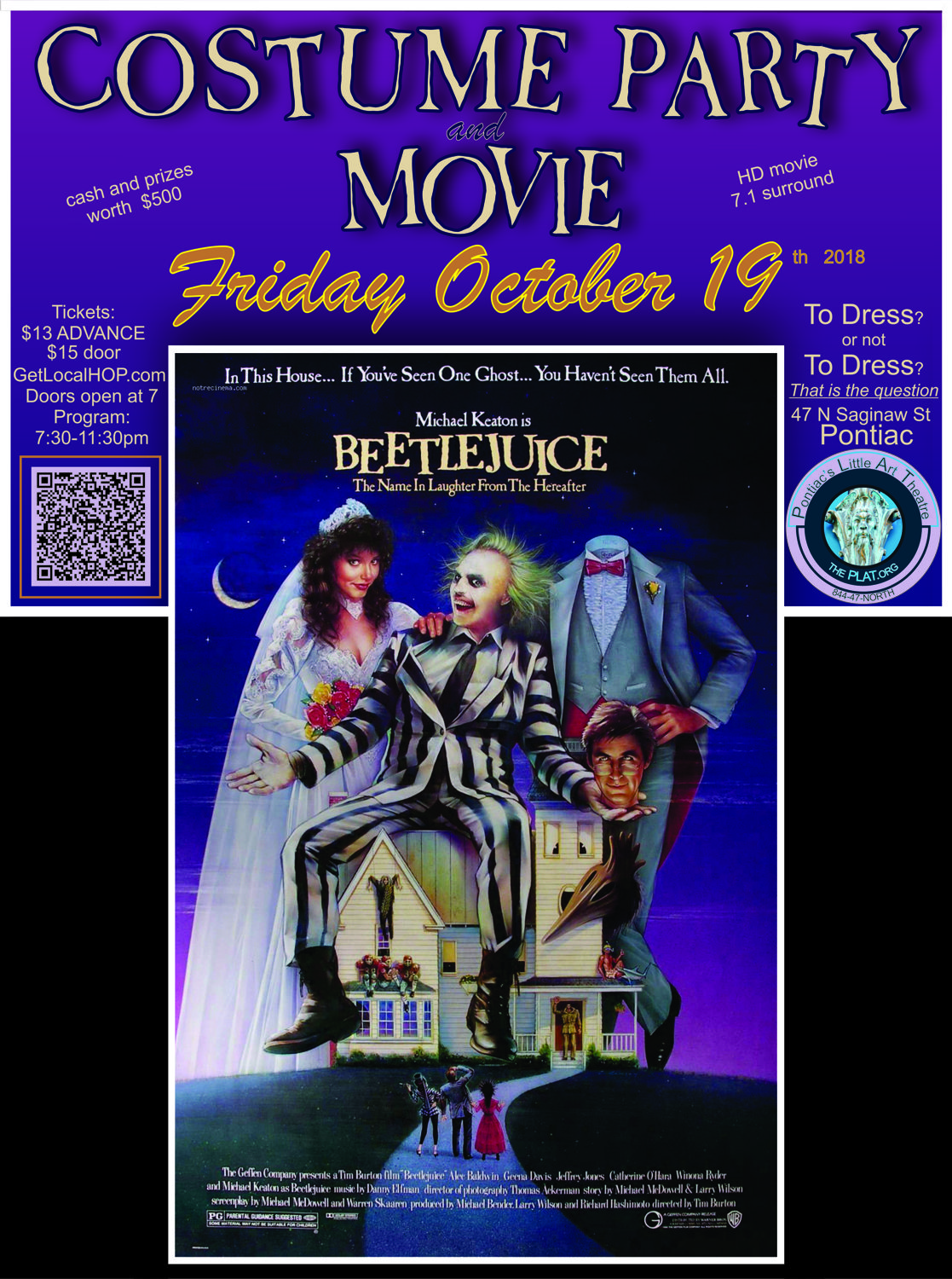 beetlejuice movie and halloween costume party - localhop