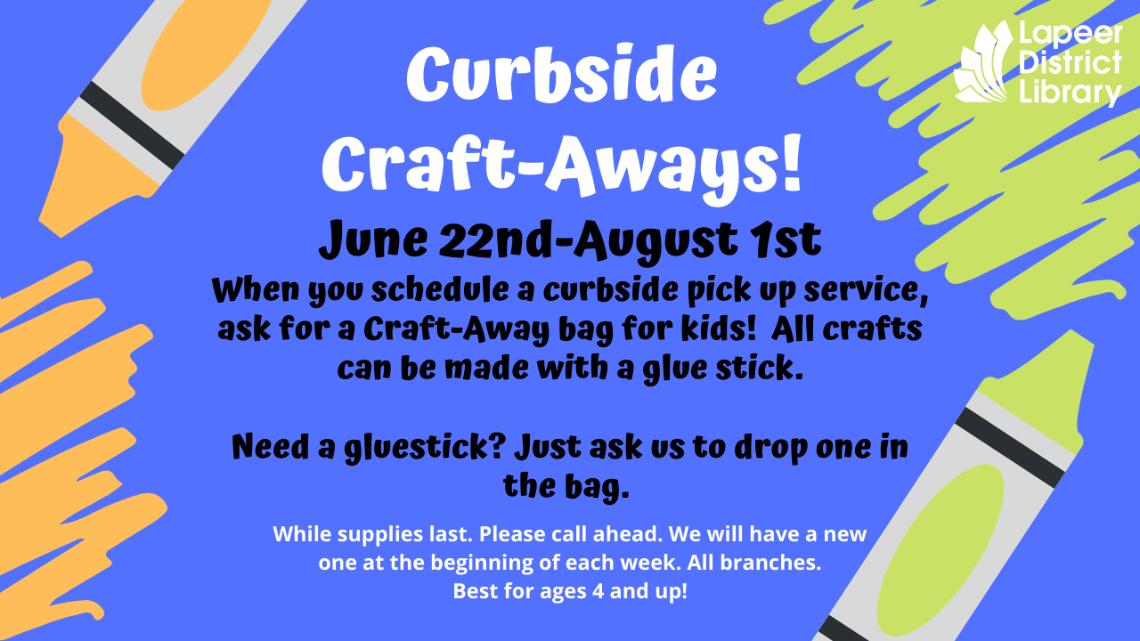Kids Curbside Craft-Aways!