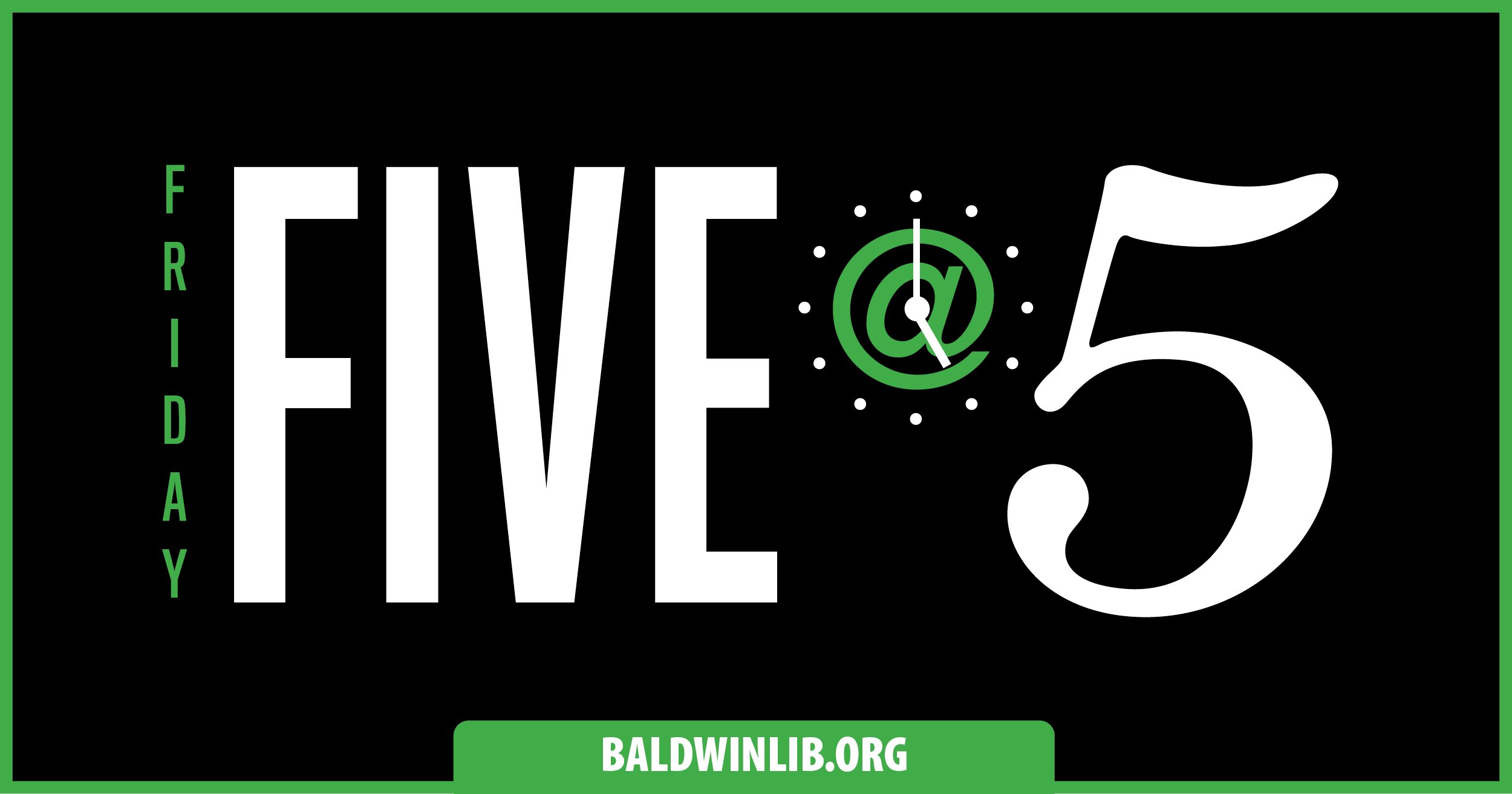 Friday Five at Five on Facebook Live!