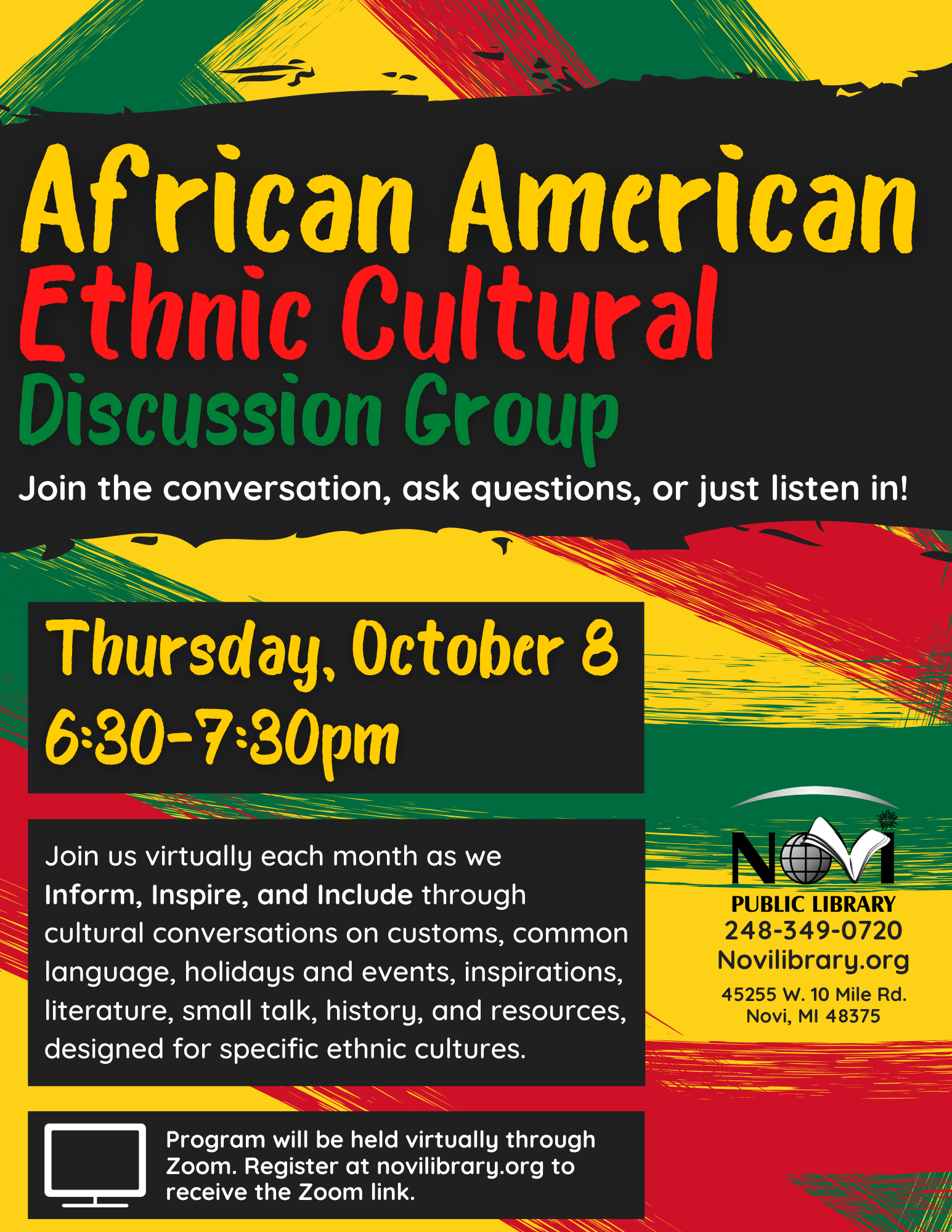 African American Ethnic Cultural Discussion Group