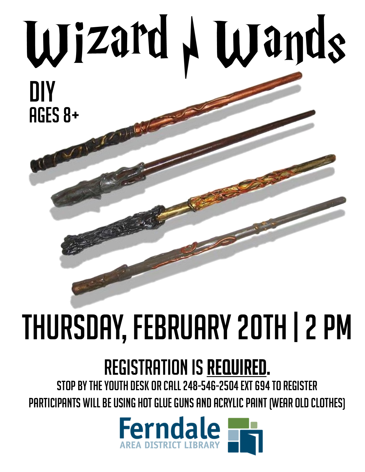 DIY Wizard Wands (Ages 8+)