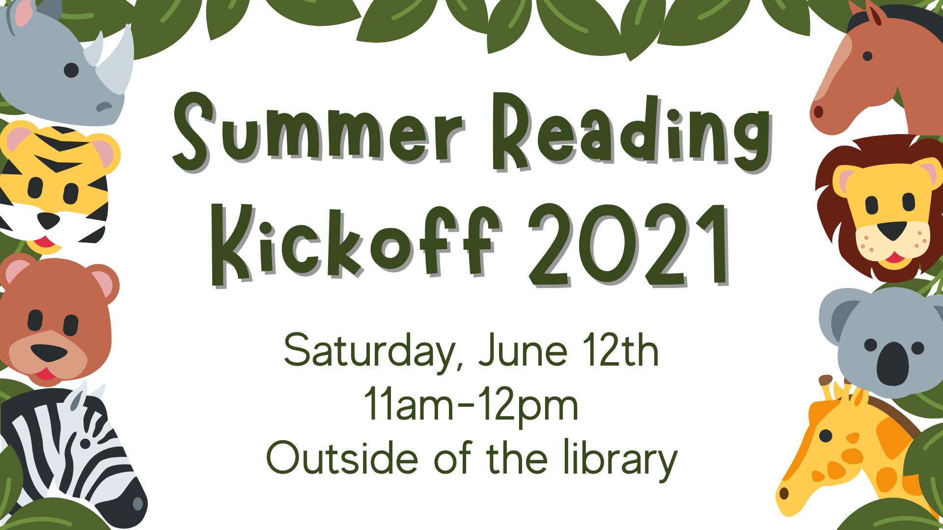 Summer Reading Kickoff!