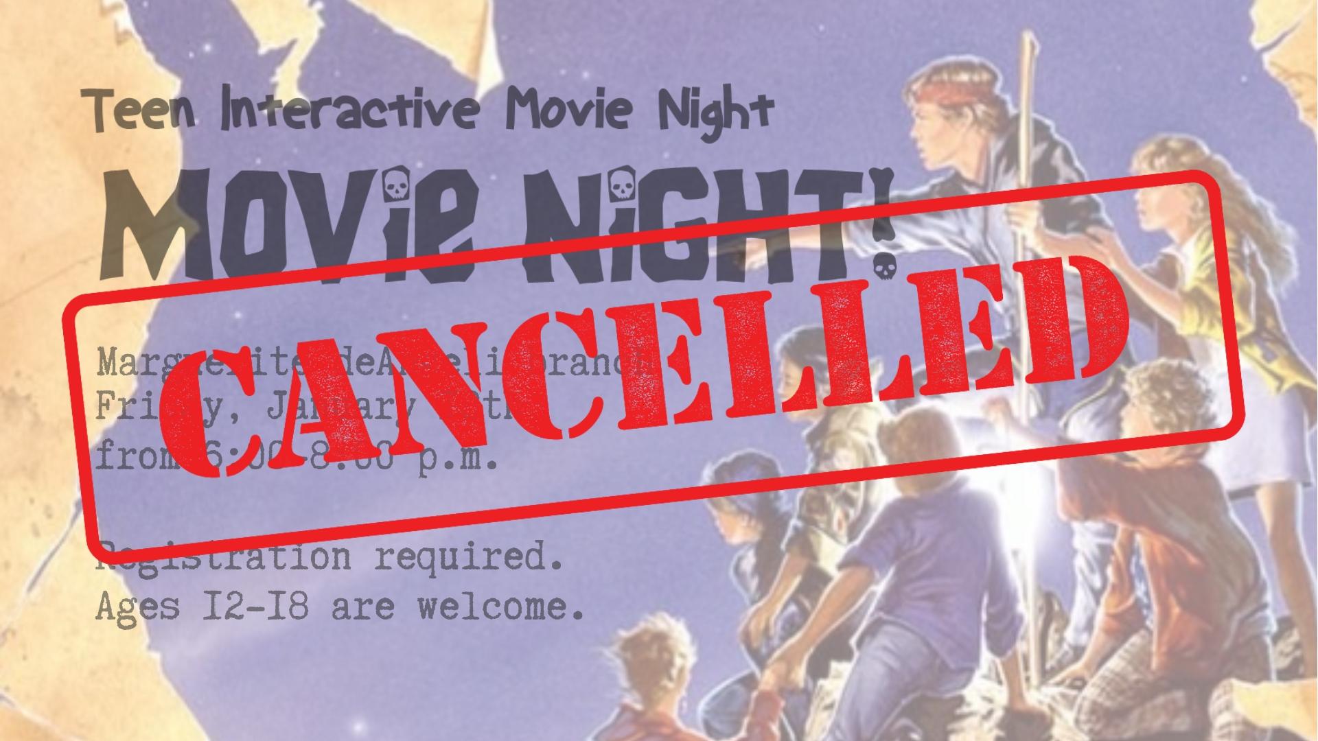 Teen Interactive movie night!