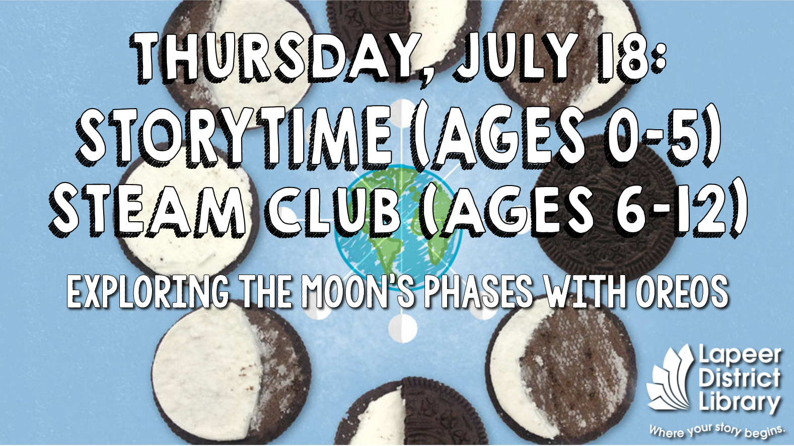 Storytime & STEAM Club - Oreo Moon Phases