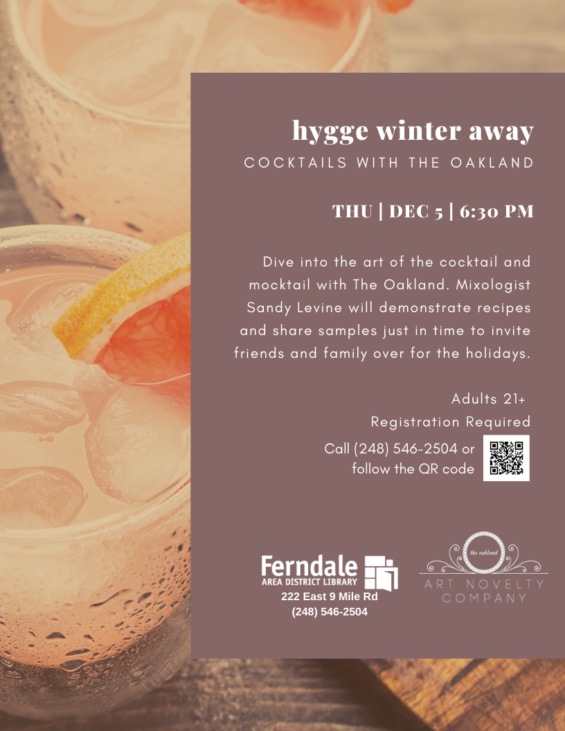 Hygge Winter Away: Cocktails (Ages 21+)