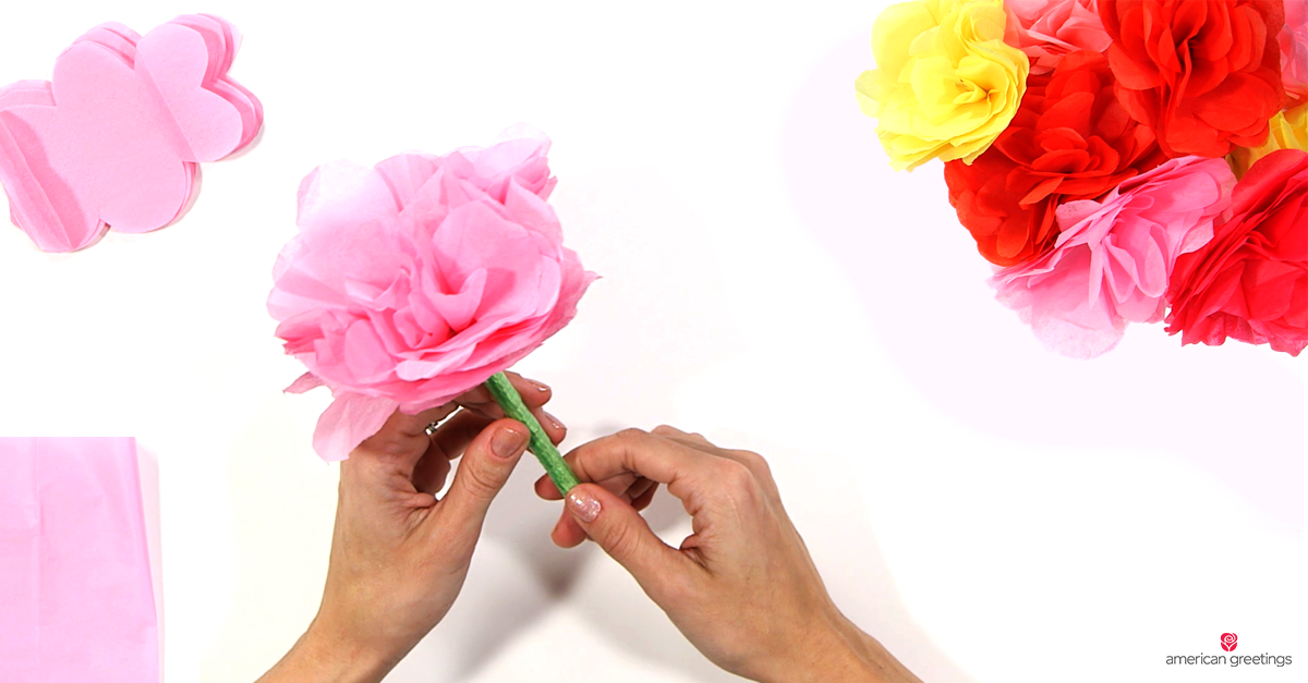 Tween Craft Day (Take Home): DIY Tissue Paper Flower Pens
