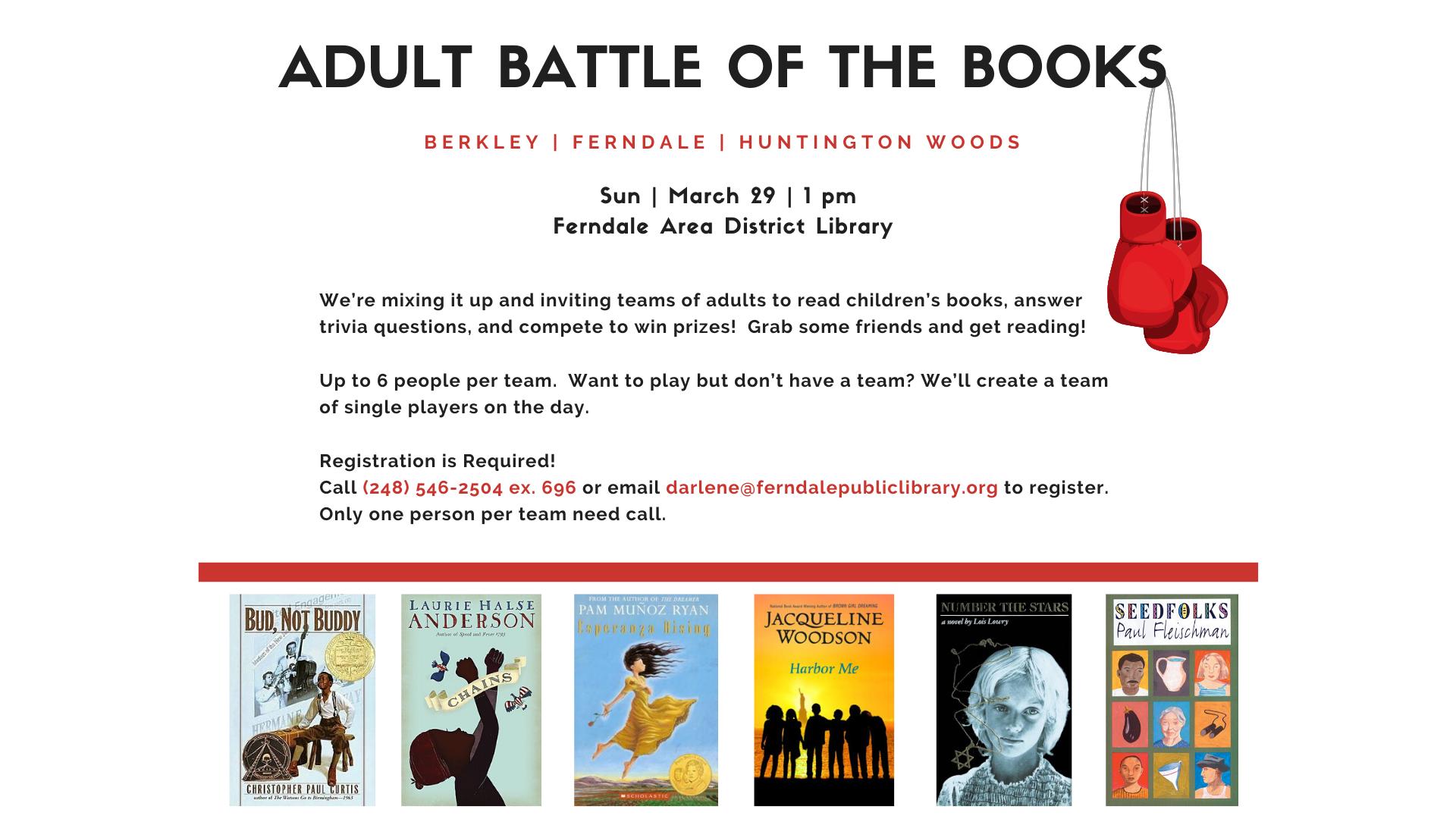 POSTPONED- Adult Battle of the Books