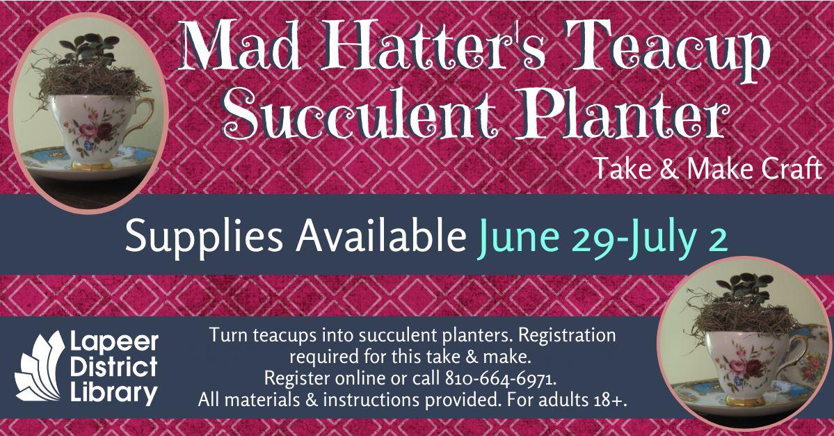 Mad Hatter's Succulent Teacup Planter Take & Make Craft