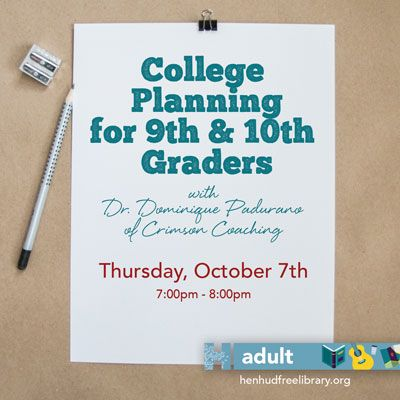 College Planning for 9th & 10th Graders--NOW ON ZOOM!