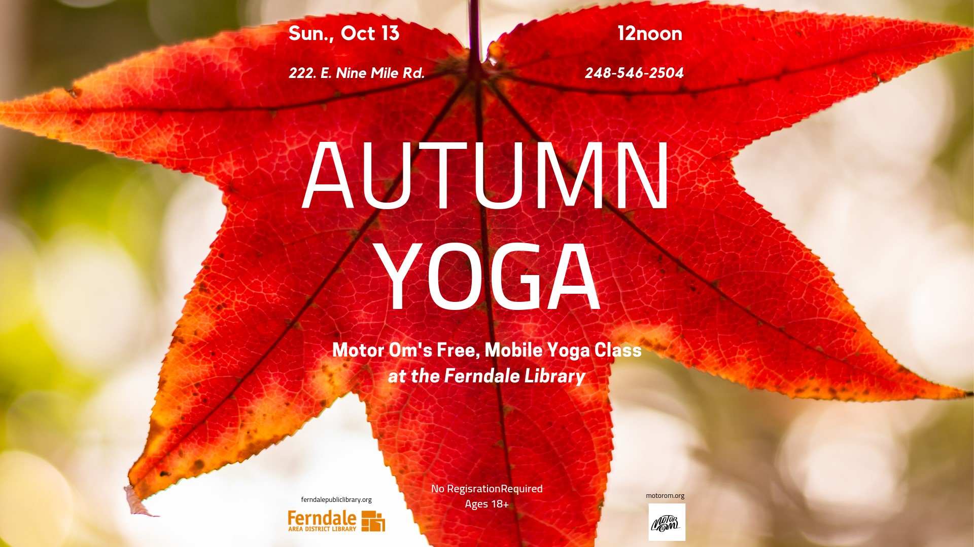 Motor Om Courtyard Yoga (Ages 18+)
