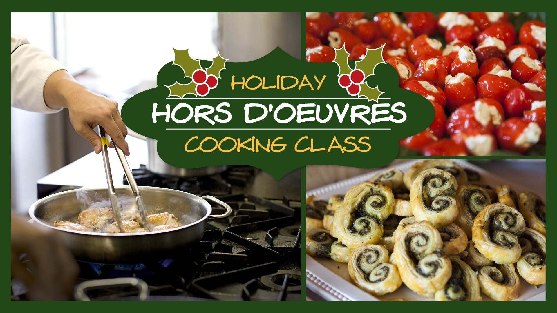 Food Dance Holiday Hors D'oeuvres Cooking Class