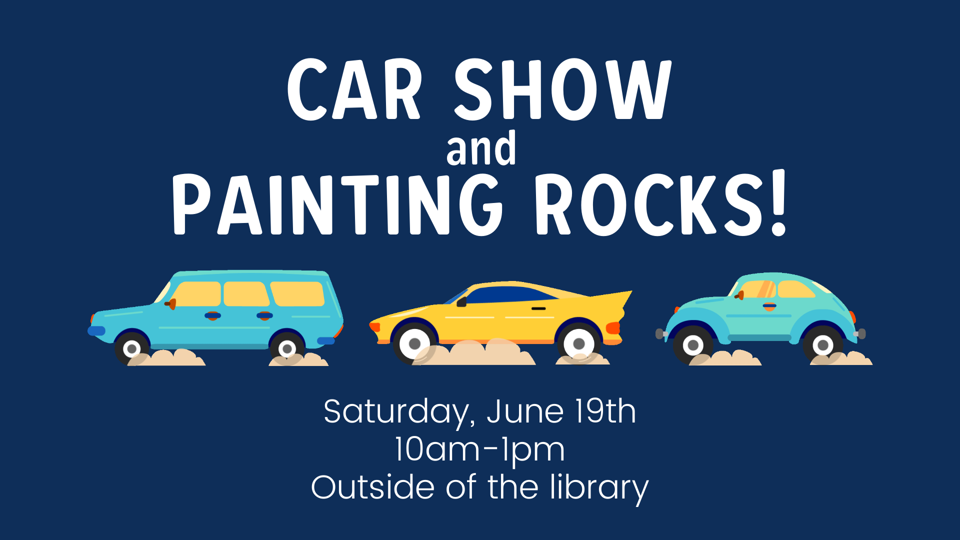 Car Show and Painting Rocks!