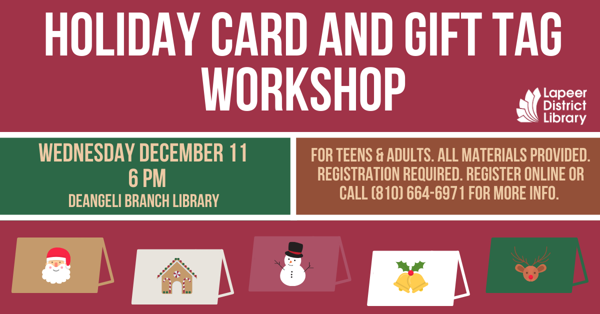Holiday Card and Gift Tag Workshop