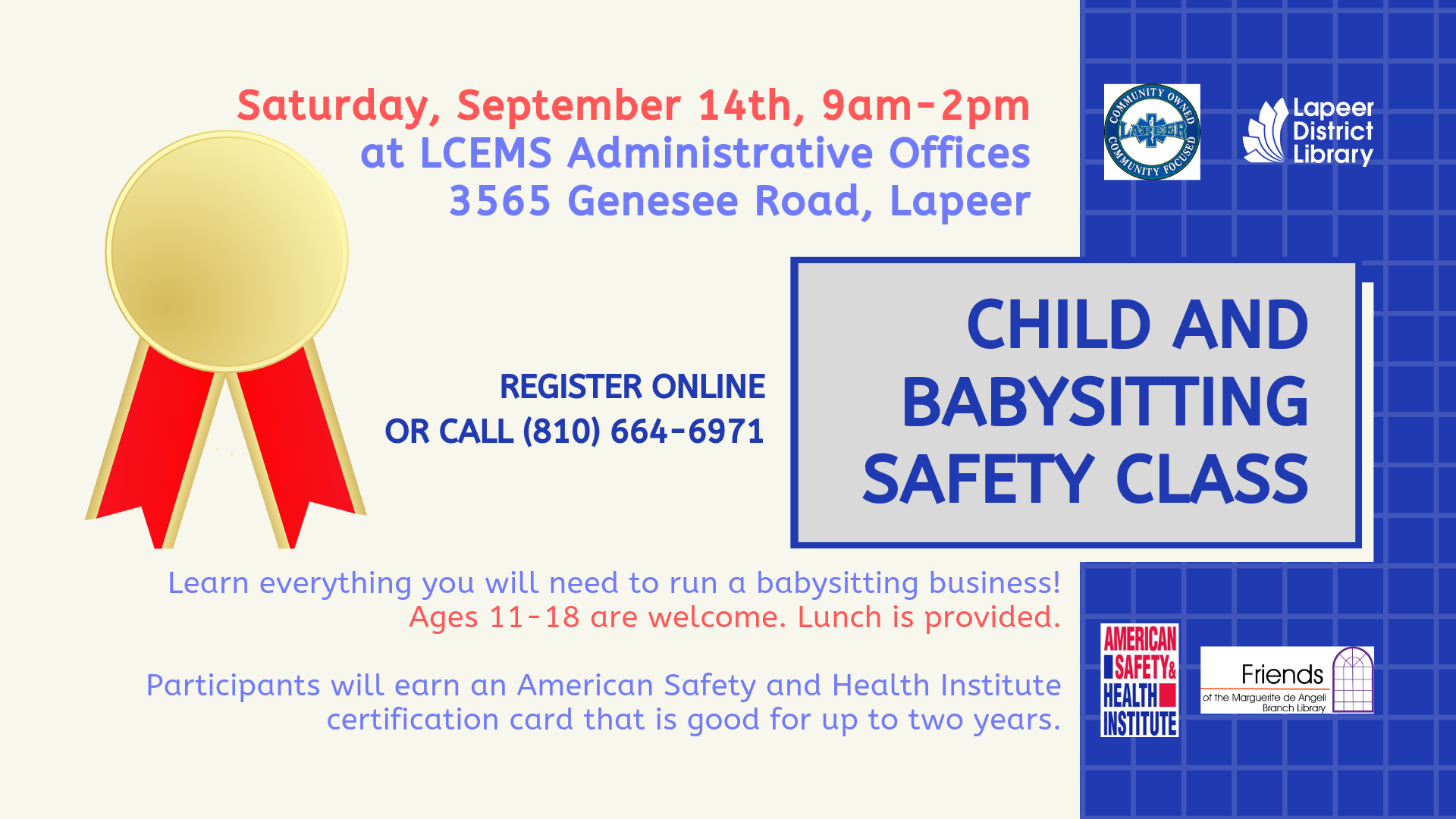 Child and Babysitting Safety class