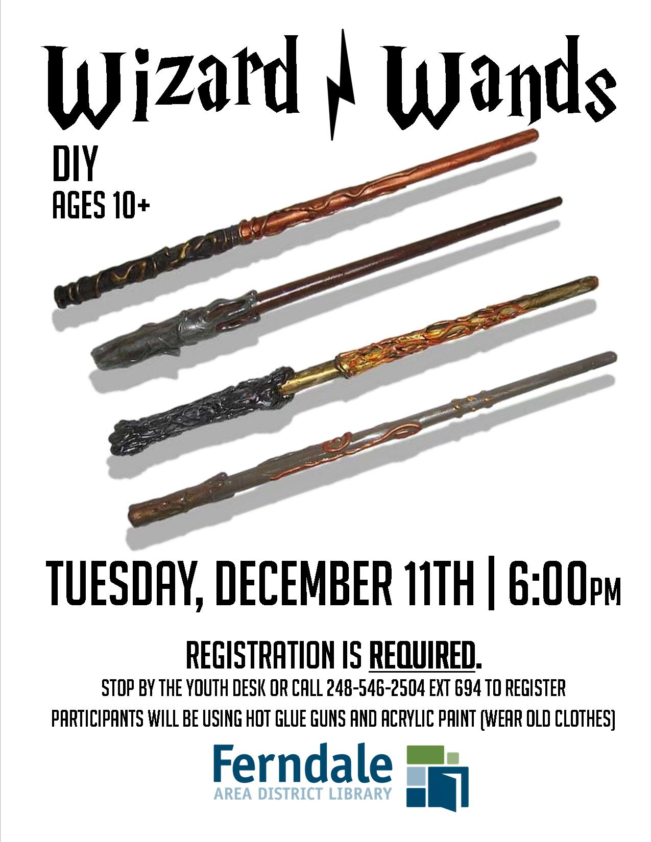 DIY Wizard Wands (Registration Required)