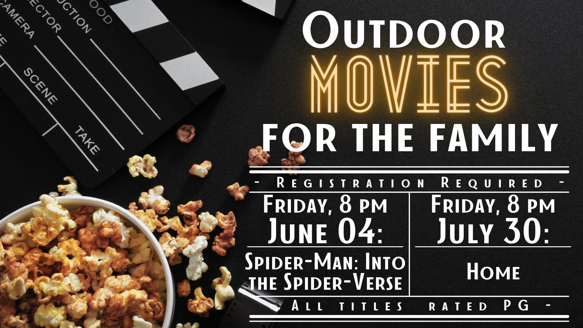 Outdoor Movie:  Spider-man: Into the Spider-verse