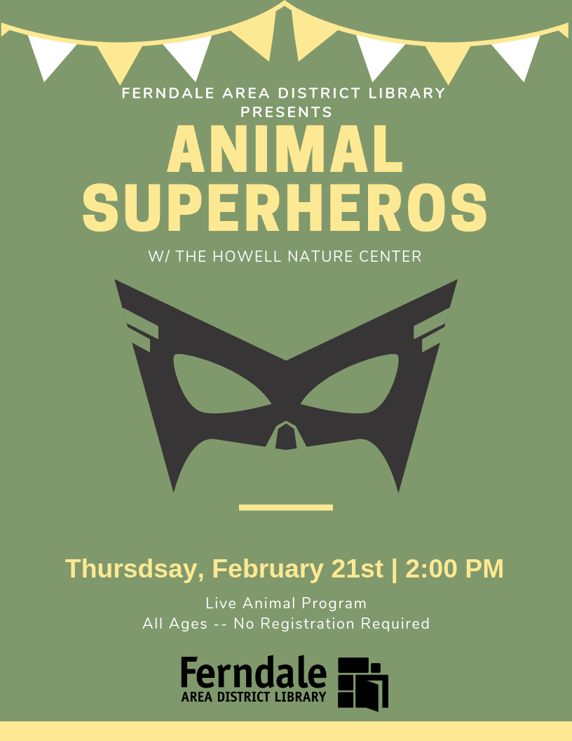 Animal Superheroes with Howell Nature Center (Live Animals - All Ages)