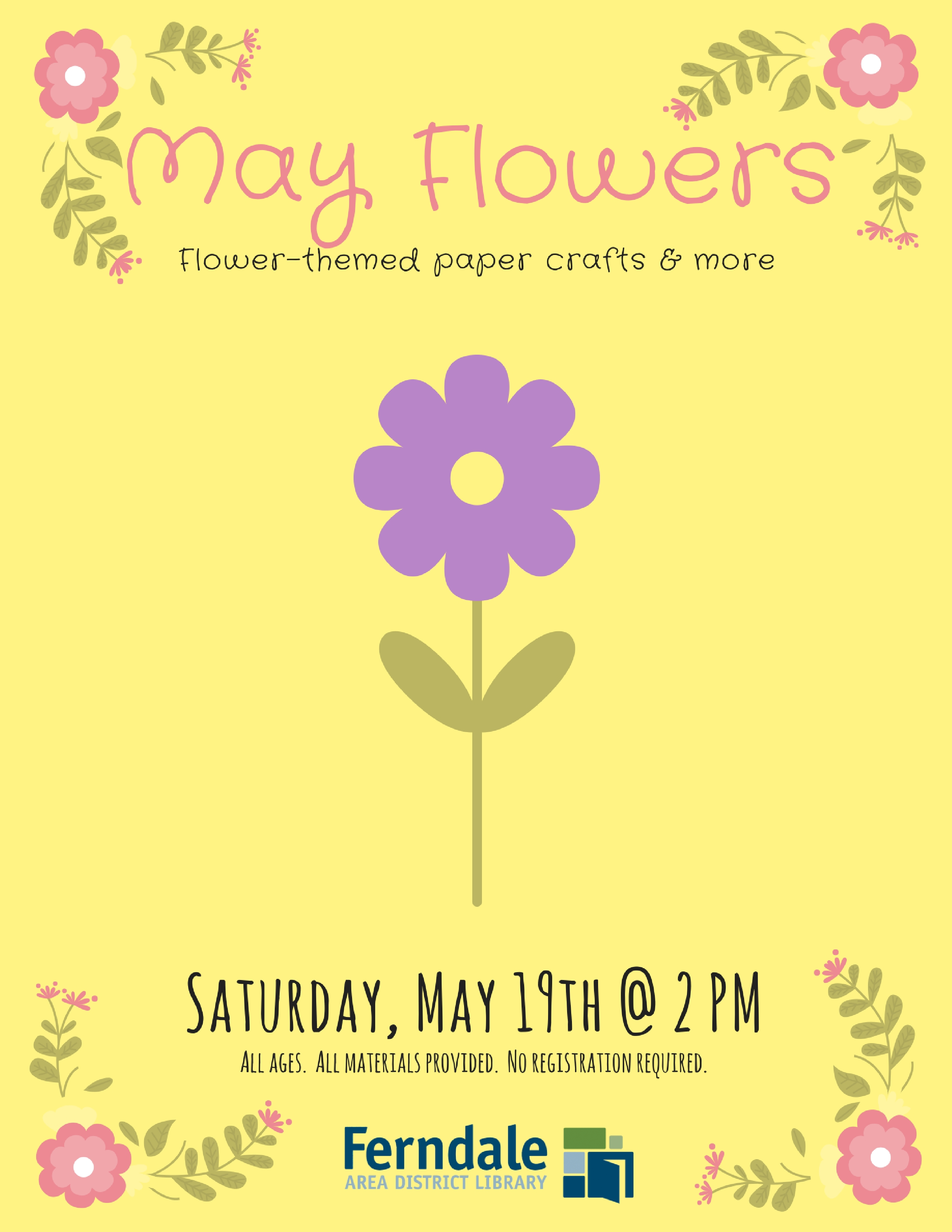 May Flowers Spring Themed Paper Crafts For All Ages Localhop