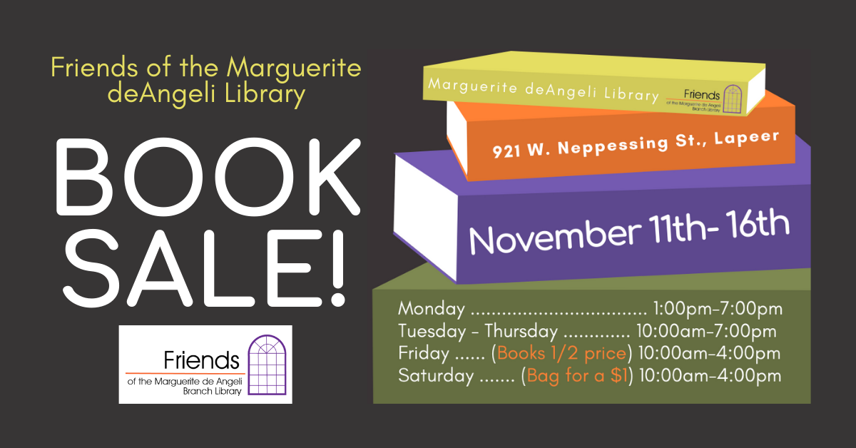 Book Sale! Friends of the Marguerite deAngeli