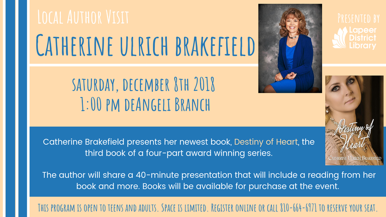Local Author Visit- Catherine Ulrich Brakefield