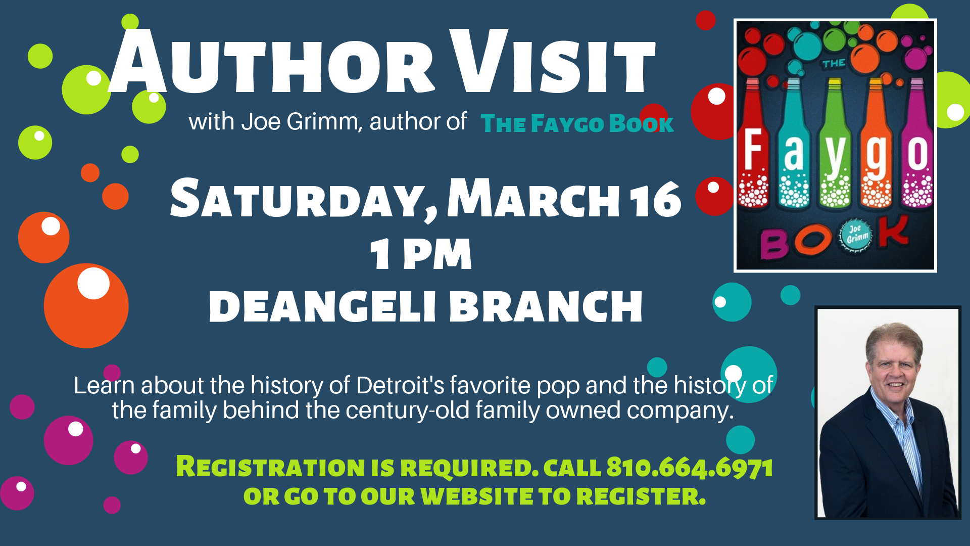 Author Visit with Joe Grimm, Author of The Faygo Book