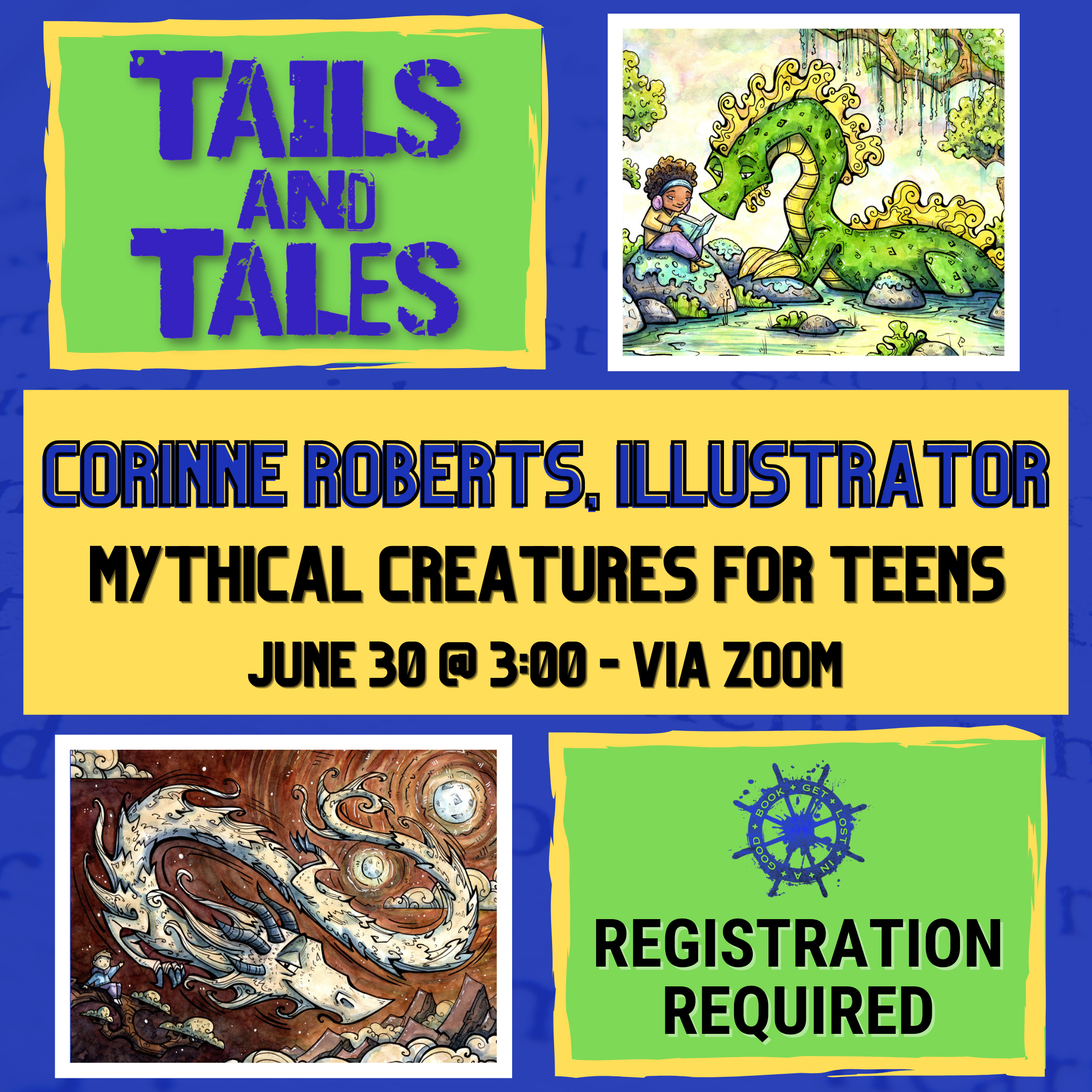Mythical Creatures with Illustrator Corinne Roberts for TEENS