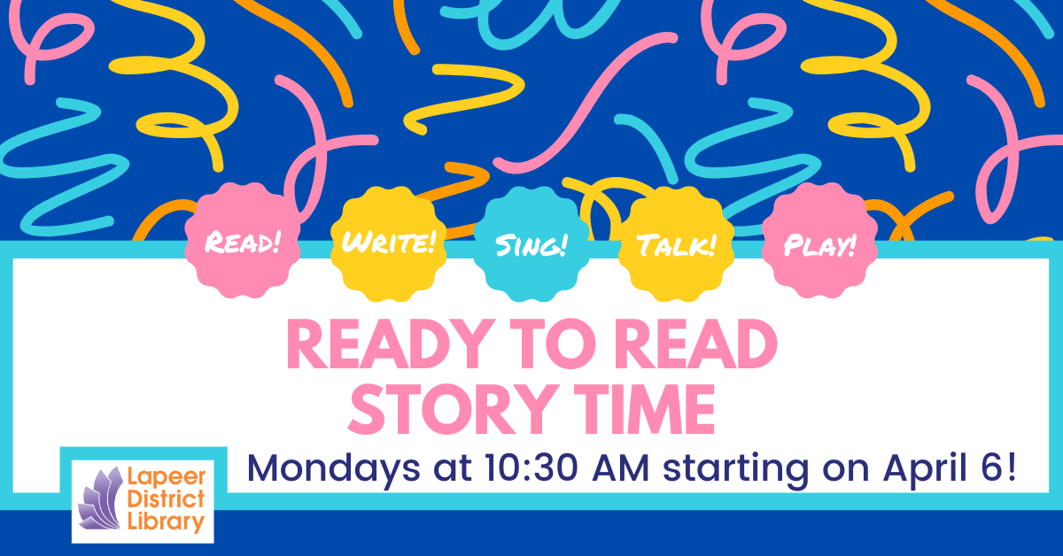 CANCELLED-Ready to Read Storytime-Spring