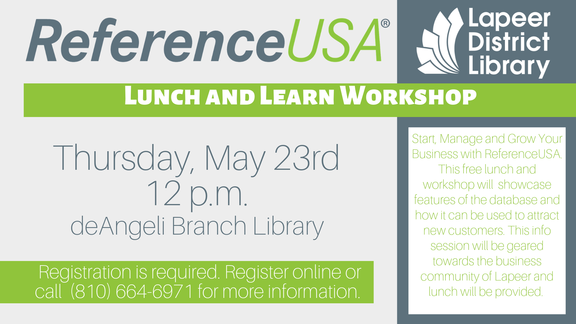 Start, Manage and Grow Your Business with ReferenceUSA
