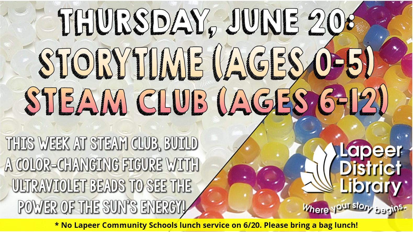 Storytime & STEAM Club - Build a UV Kid