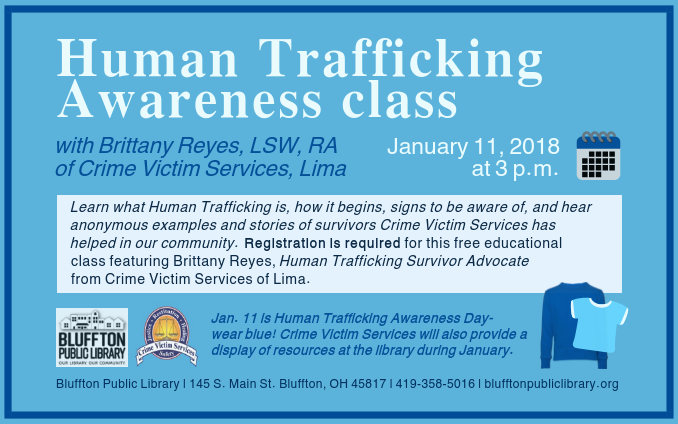 Human Trafficking Awareness Class