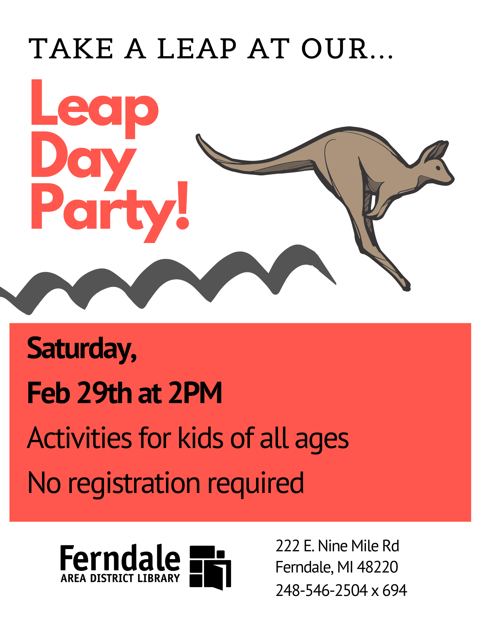 Leap Day Party (Ages  12 and Under)