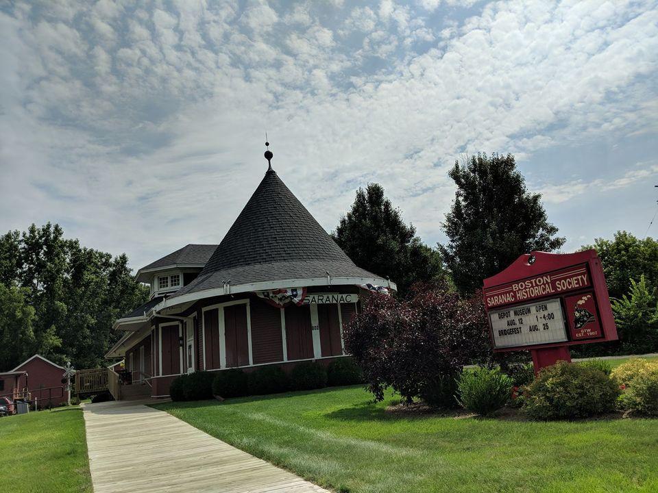 Boston - Saranac Historical Society Depot Museum